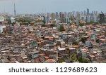 favela and buildings   urban...   Shutterstock . vector #1129689623