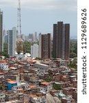 favela and buildings   urban...   Shutterstock . vector #1129689626