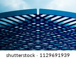 close up photo of metal grid... | Shutterstock . vector #1129691939