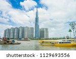 saigon   vietnam  july 2018  ... | Shutterstock . vector #1129693556