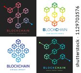 blockchain logo. internet... | Shutterstock .eps vector #1129703576