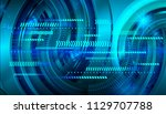 binary circuit board future... | Shutterstock .eps vector #1129707788