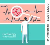 cardiology concept.... | Shutterstock .eps vector #1129712270