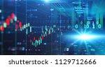 financial stock market graph... | Shutterstock . vector #1129712666