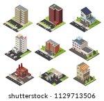 big set low poly vectors of... | Shutterstock .eps vector #1129713506