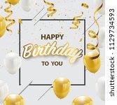 happy birthday vector... | Shutterstock .eps vector #1129734593