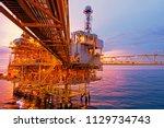 offshore construction platform... | Shutterstock . vector #1129734743