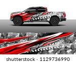truck decal designs  cargo van... | Shutterstock .eps vector #1129736990