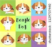 cute dog gang  | Shutterstock .eps vector #1129737440