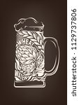 hand drawn vintage graphic with ...   Shutterstock .eps vector #1129737806