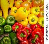mix fresh vegetables. bell... | Shutterstock . vector #1129744208