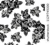 abstract elegance seamless... | Shutterstock . vector #1129745330