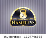 golden emblem with 4kg... | Shutterstock .eps vector #1129746998