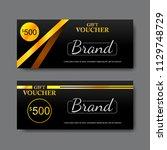 gift voucher template  vector   Shutterstock .eps vector #1129748729