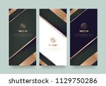 vector set packaging templates  ... | Shutterstock .eps vector #1129750286