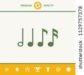symbol of music  notes.... | Shutterstock .eps vector #1129757378
