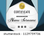 certificate template luxury and ... | Shutterstock .eps vector #1129759736