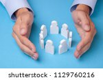 group of employees. how to keep ... | Shutterstock . vector #1129760216