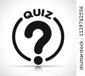 illustration of quiz icon on... | Shutterstock .eps vector #1129762556