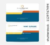 business card vector background | Shutterstock .eps vector #1129767494