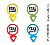 take away realistic sticker and ... | Shutterstock .eps vector #1129768703