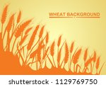wheat on the yellow background... | Shutterstock .eps vector #1129769750
