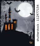 halloween background with... | Shutterstock . vector #112977154