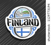 vector logo for finland country ... | Shutterstock .eps vector #1129773194