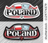 vector logo for poland country  ...   Shutterstock .eps vector #1129774379