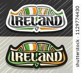 vector logo for ireland country ... | Shutterstock .eps vector #1129774430