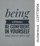 quotes motivational and... | Shutterstock . vector #1129778906