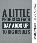 quotes motivational and... | Shutterstock . vector #1129778969