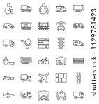 thin line vector icon set  ... | Shutterstock .eps vector #1129781423