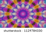 illustration of a mosaic image  ... | Shutterstock . vector #1129784330