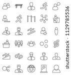 thin line vector icon set  ... | Shutterstock .eps vector #1129785536