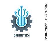 digital tech   vector business... | Shutterstock .eps vector #1129788989