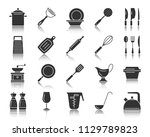kitchenware glyph style icons... | Shutterstock .eps vector #1129789823