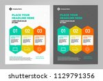 infographic brochure layout...   Shutterstock .eps vector #1129791356