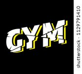 gym athletic sport typography ...   Shutterstock .eps vector #1129791410