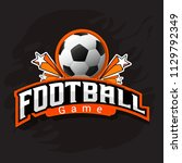 illustration of a football cup...   Shutterstock .eps vector #1129792349