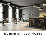 industrial style bar corner... | Shutterstock . vector #1129792553
