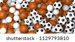 basketball  volleyball and... | Shutterstock . vector #1129793810