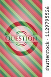 question christmas badge... | Shutterstock .eps vector #1129795526
