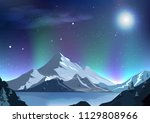 fantasy full moon abstract... | Shutterstock .eps vector #1129808966
