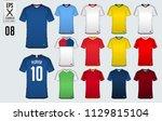 soccer jersey  football kit  t... | Shutterstock .eps vector #1129815104
