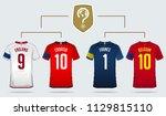 soccer jersey or football kit... | Shutterstock .eps vector #1129815110