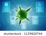 3d rendering viruses in... | Shutterstock . vector #1129820744