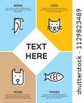 pet shop banner template with... | Shutterstock .eps vector #1129823489