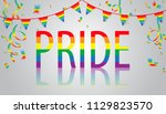 pride background with the... | Shutterstock .eps vector #1129823570