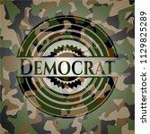 democrat camouflaged emblem | Shutterstock .eps vector #1129825289